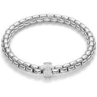 Fope FlexIt Eka 18ct White Gold 0.53ct Diamond Bracelet