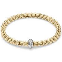 Fope FlexIt Eka 18ct Yellow Gold 0.15ct Diamond Bracelet