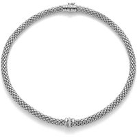 Fope FlexIt Love Nest 18ct White Gold Diamond Necklace