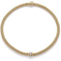 Fope FlexIt Love Nest 18ct Yellow Gold Diamond Necklace