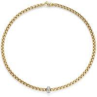 Fope FlexIt Eka 18ct Yellow Gold Diamond Necklace