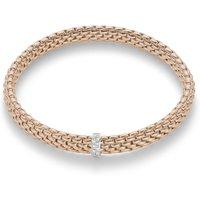 Fope FlexIt Vendome 18ct Rose Gold 0.10ct Diamond Bracelet