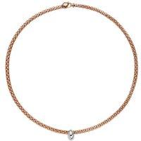 Fope Flexit Solo 18ct Rose Gold 0.12ct Diamond Necklace