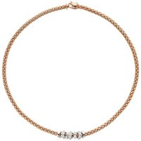 Fope Flexit Solo 18ct Rose Gold 0.50ct Diamond Necklace