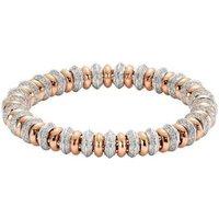 Fope Flexit Solo 18ct Rose White Gold 4.14ct Diamond Bracelet