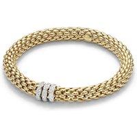Fope Flexit Love Nest 18ct Yellow Gold 0.57ct Diamond Bracelet