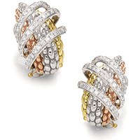 Fope MiaLuce 18ct Yellow White and Rose Gold Diamond Earrings