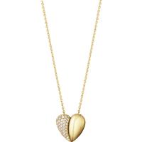 Georg Jensen Hearts of Georg Jensen 18ct Yellow Gold Diamond Heart Necklace