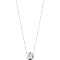 Georg Jensen Aurora 18ct White Gold 0.10ct Diamond Pave Necklace
