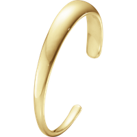 Georg Jensen Curve 18ct Yellow Gold Slim Bangle