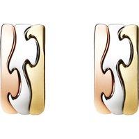 Georg Jensen Fusion 18ct Yellow Rose White Gold Earrings