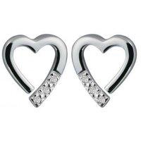 'Hot Diamonds Just Add Love Sterling Silver Memories Earrings