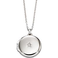 Little Star Adriana Sterling Silver Diamond Locket