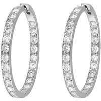 Picchiotti 18ct White Gold 2.01ct Diamond Large Hoop Earrings