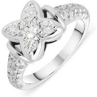 Picchiotti 18ct White Gold Diamond Flower Ring