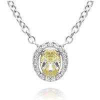 Picchiotti 18ct White Gold Yellow Diamond Halo Necklace
