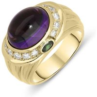 Picchiotti 18ct Yellow Gold 5.47ct Amethyst Tourmaline Diamond Ring