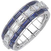 Picchiotti Xpandable 18ct White Gold 4.39ct Diamond Sapphire Eternity Ring