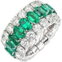 Picchiotti Xpandable 18ct White Gold 6.65ct Diamond Emerald Eternity Ring