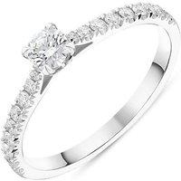 Platinum Brilliant Cut 0.46ct Diamond Shoulder Solitaire Ring