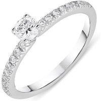 Platinum 0.44ct Diamond Brilliant Cut Ring