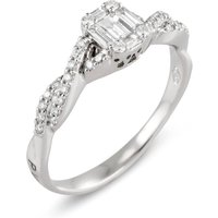 Ponte Vecchio Benvenuto 18ct White Gold 0.45ct Diamond Baguette Twist Ring