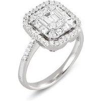 Ponte Vecchio Benvenuto 18ct White Gold 1.02ct Diamond Cluster Ring