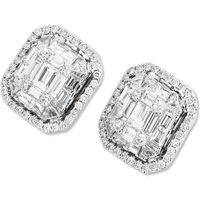 Ponte Vecchio Benvenuto 18ct White Gold 1.71ct Diamond Cluster Stud Earrings