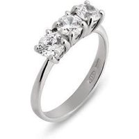 Ponte Vecchio Love Promise 18ct White Gold 1.15ct Diamond Trilogy Ring