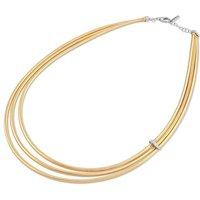 Ponte Vecchio Nobile 18ct Yellow Gold 0.12ct Diamond Three Strand Necklace