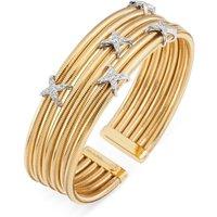 Ponte Vecchio Nobile 18ct Yellow Gold 0.37ct Diamond Crossover Bangle