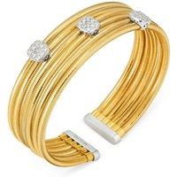 Ponte Vecchio Nobile 18ct Yellow Gold 0.48ct Diamond Cluster Bangle