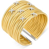 Ponte Vecchio Nobile 18ct Yellow Gold 0.51ct Diamond Crossover Cuff Bangle