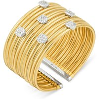 Ponte Vecchio Nobile 18ct Yellow Gold 0.96ct Diamond Cluster Bangle