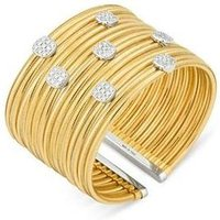 Ponte Vecchio Nobile 18ct Yellow Gold 1.10ct Diamond Cuff Bangle