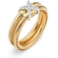 Ponte Vecchio Nobile 18ct Yellow Gold Diamond Crossover Ring