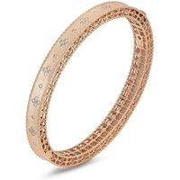 Roberto Coin Princess 18ct Rose Gold Diamond Bangle