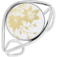 Royal Crown Derby Sterling Silver and 18ct Yellow Gold Round Bangle