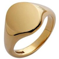 9ct Yellow Gold Medium Oval Signet Ring