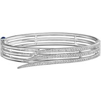 Shaun Leane Armis 18ct White Gold 1.08ct Diamond Triple Row Pave Bangle