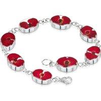 Shrieking Violet Sterling Silver Poppy Oval Bracelet