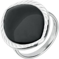 Sterling Silver Whitby Jet Ridged Marquise Ring