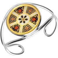 Sterling Silver 18ct Yellow Gold Royal Crown Derby Imari Bangle