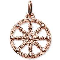 Thomas Sabo Karma Beads Rose Gold Wheel Pendant
