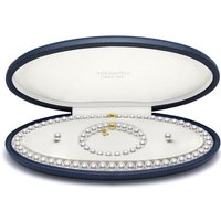 Mikimoto 18ct Yellow Gold Akoya Pearl Necklace, Bracelet and Earring Set