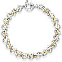 9ct White Gold Single Links Handmade Bracelet