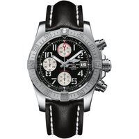 Breitling Watch Avenger II Steel Leather Tang Type