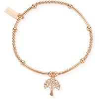 ChloBo Sterling Silver Rose Gold Plated Cute Mini Heart Tree Of Life Bracelet
