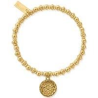 ChloBo Sterling Silver Gold Plated Didi Sparkle Moonflower Bracelet