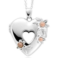 Clogau Inner Charm Sterling Silver Floral Heart Locket